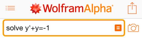 Строка ввода задачи WolframAlpha