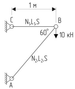 Теорема Клапейрона - Расчетная схема задачи