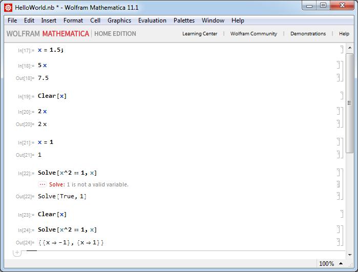 Mathematica - Инициализированная и не инициализированная переменная
