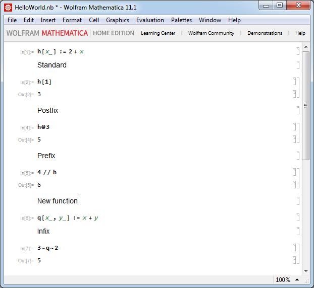 Mathematica - Формы вызова функции
