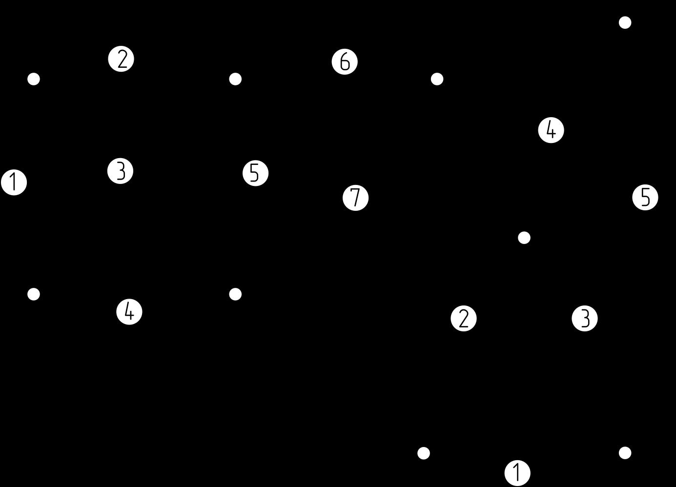 Частоты собственных колебаний фермы: Схемы задач.