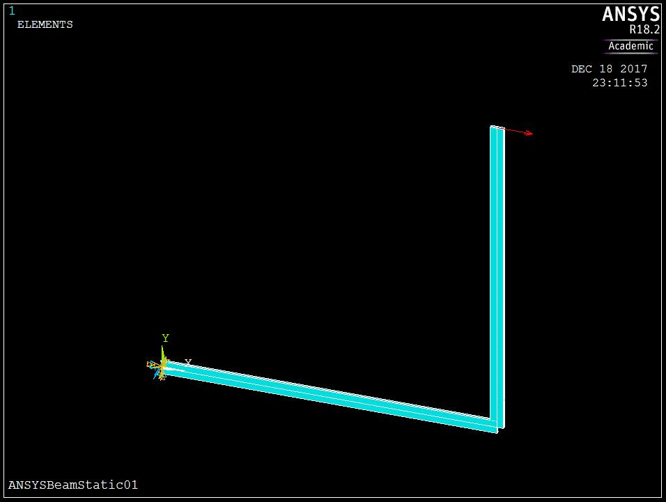 Расчет рамы в МКЭ-Ф: тестовая задача 01 - статика