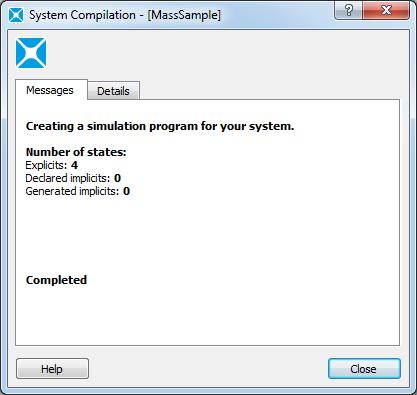 Основы работы в Amesim - Окно System Compilation